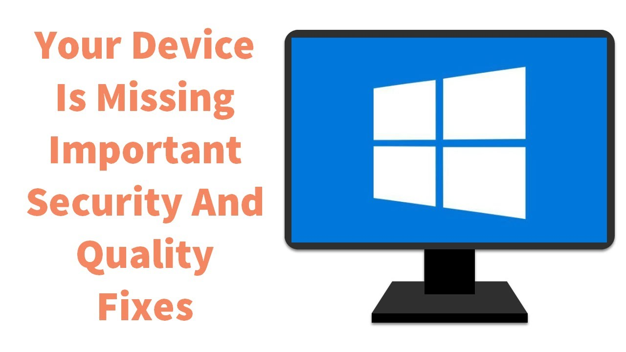 """Fix """"Your device is missing important security and quality fixes"""" error"""