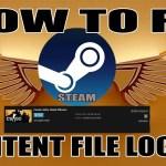 content file locked error on Steam