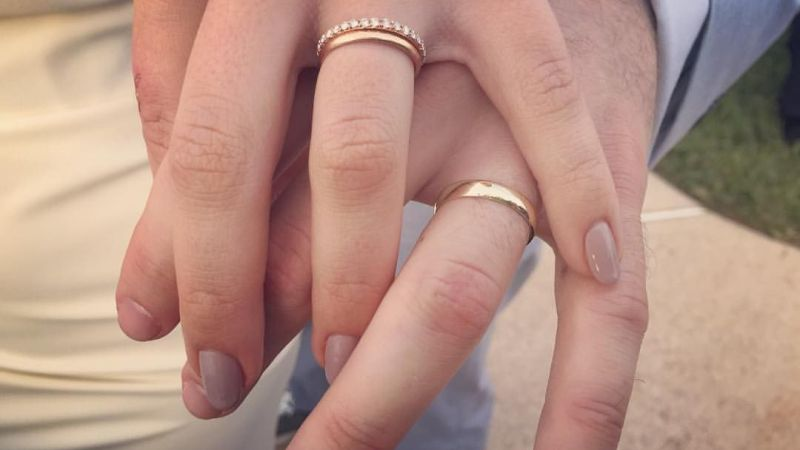 Follow these simple steps to take care of your 14k-18k gold wedding band