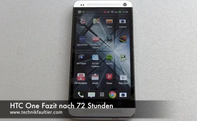 HTC One Fazit nach 72 Stunden