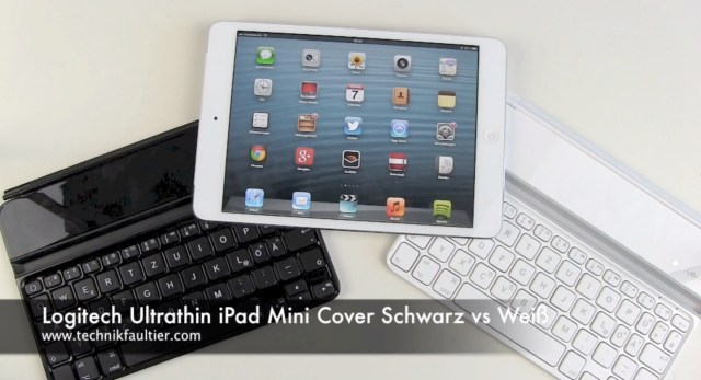 Logitech Ultrathin iPad Mini Cover Schwarz vs Weiß
