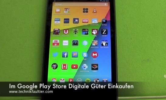 Im Google Play Store Digitale Güter Einkaufen