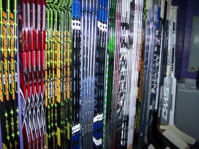 Batons de hockey composites