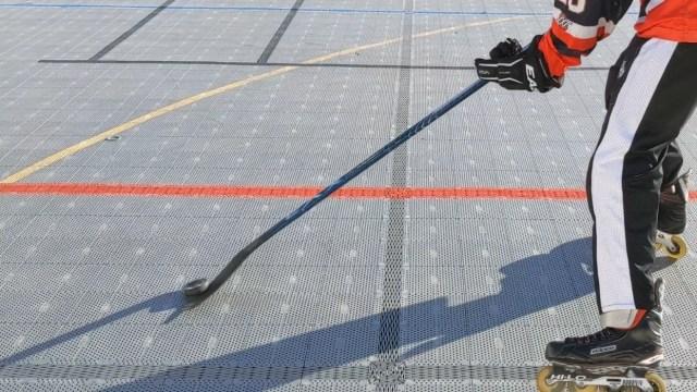 Contrôle rondelle sur la tranche - Dépose de la rondelle - Coup droit - Technique-Hockey