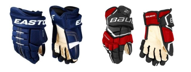 Différentes paires de gants de hockey