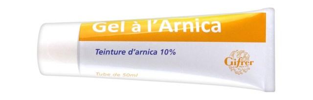 Gel à l'arnica pour guérir les hématomes