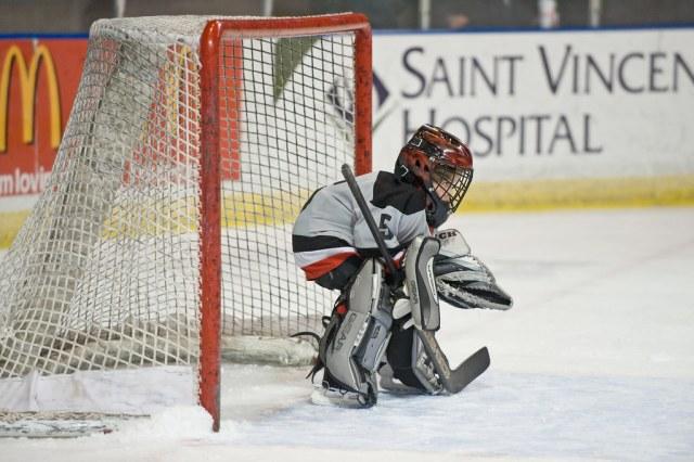 Jeune gardien de hockey