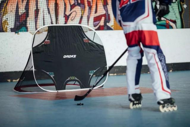 La Kage Oroks, cage de hockey transportable - Photo fournie par Oroks