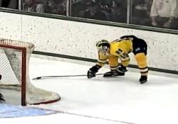 Mike Legg fait un Michigan en 1996 lors d'un match de hockey