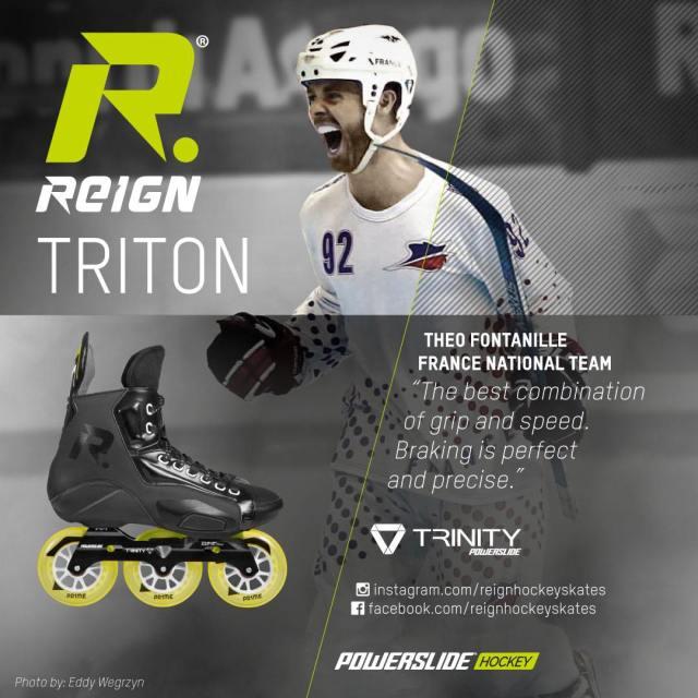 Patins de roller hockey Reign - Théo Fontanille - Photo par Eddy Wegrzyn