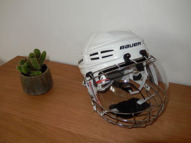 Visière Uniplexi BO Sport montée sur casque Bauer Mi5 - Technique-Hockey