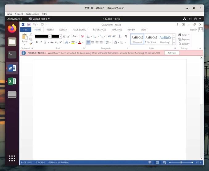 Debian Microsoft Office installieren - Tutorial - word