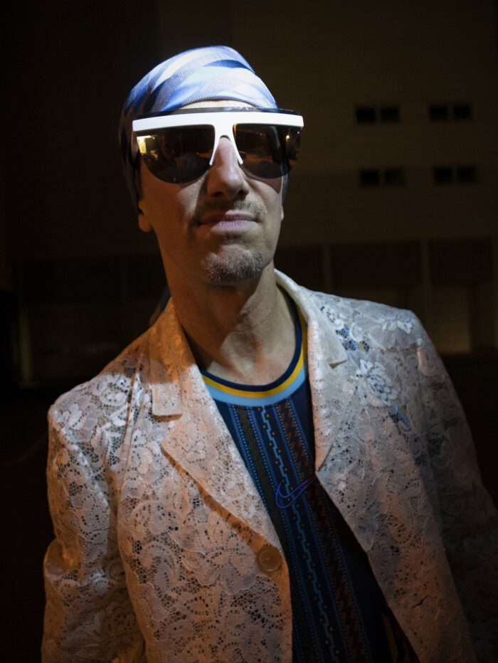 Hypebeast fashion style in the techno club