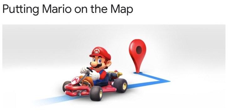 マリオの日でマリオカートとGoogleマップがコラボ!マリオが目的地までナビゲーションしてくれる!