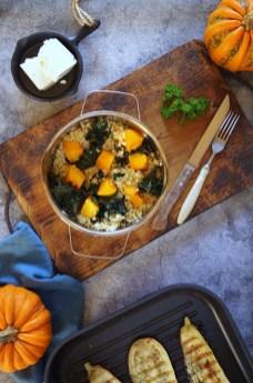 Jesienna kasza pęczak z dynią w garnku_małe zdjęcie