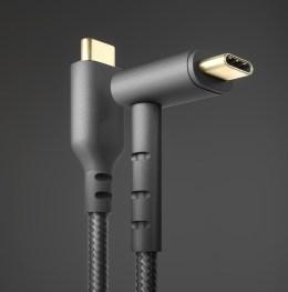 Kabel ładujący z podstawką z dwoma wejściami USB-C