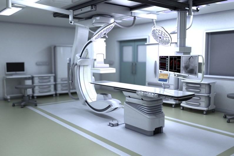 3D illustration of x-ray machine.