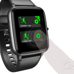 Hama Fit Watch 5910 czarny, obsługa ekranu