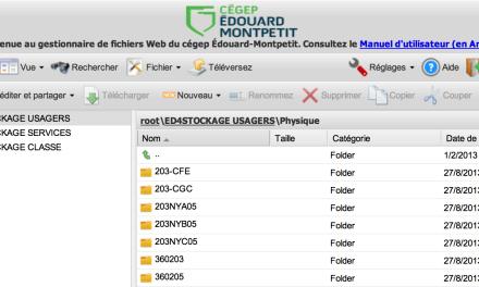 Accédez à vos fichiers via le nuage informatique du cégep