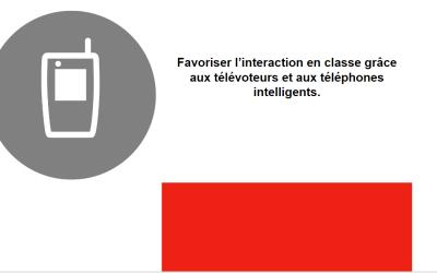 Favoriser l'interaction en classe grâce aux téléphones intelligents et aux télévoteurs – vidéos et présentation
