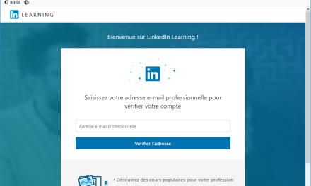 Accès à LinkedIn Learning