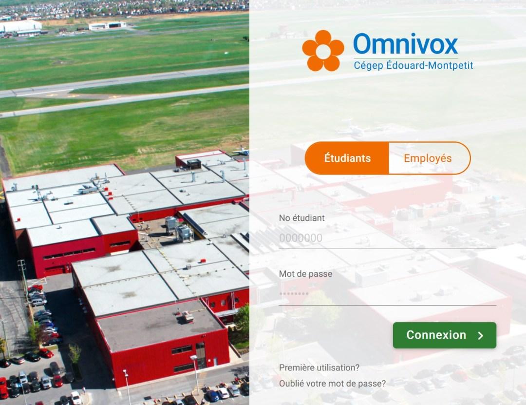 Page de connexion Omnivox
