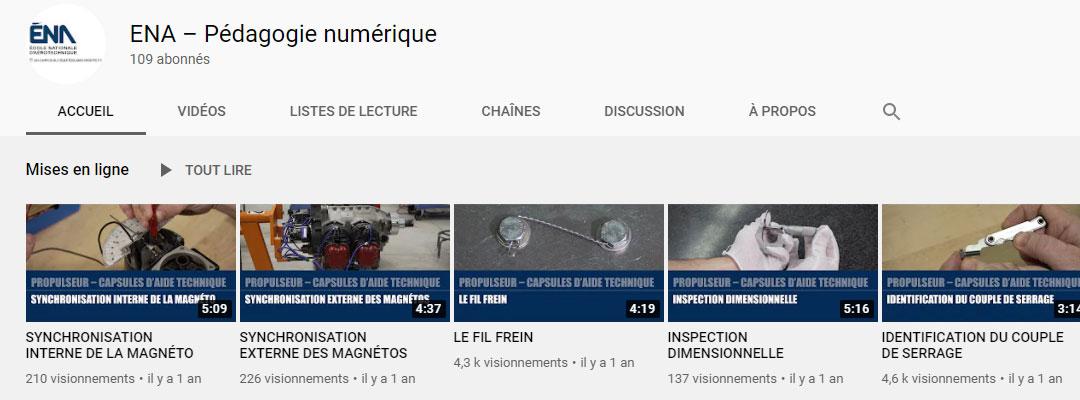 Image de la chaine YouTube ENA – Pédagogie numérique