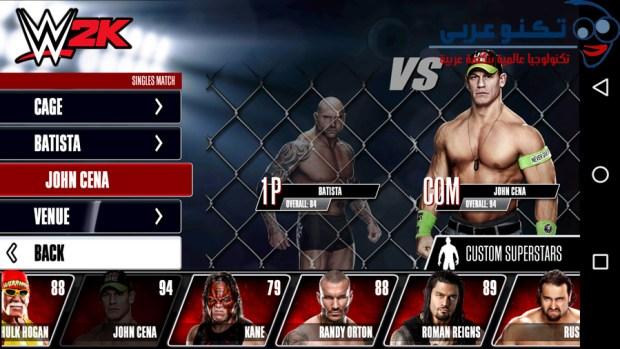 لعبة WWE 2K للاندرويد