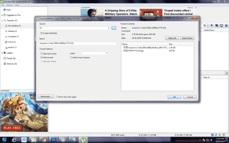 Download Movies Using uTorrent