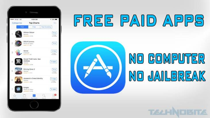 Download Paid Apps Free on iOS Device Without PC and Without Jailbreak