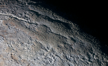Pluto's terrain and land structure