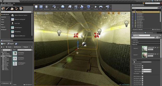 Unreal Engine 4 interface
