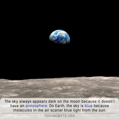moons sky is always dark