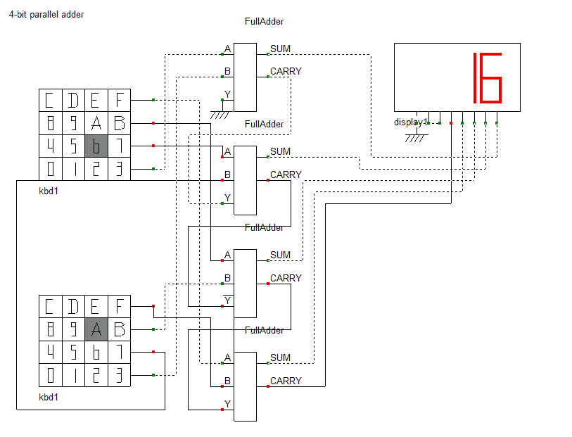 4-bit Parallel Adder And 4-bit Parallel Subtractor