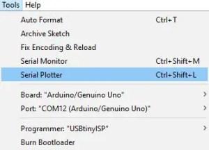 Serial plotter