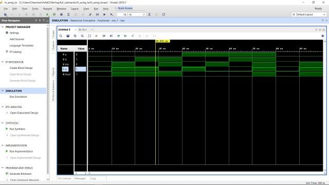 Simulation waveform Full Subtractor Circuit