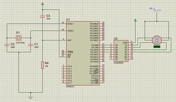 Circuit to interface stepper to 8051