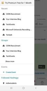 Navigation Drawer - LinkedIn