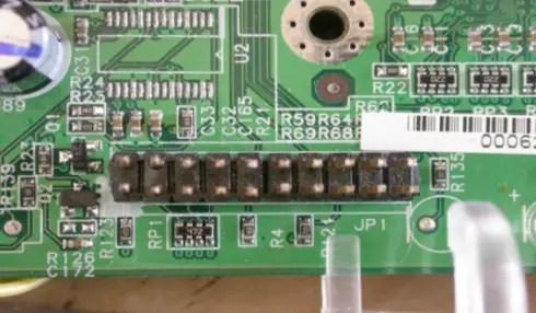 JTAG port connector