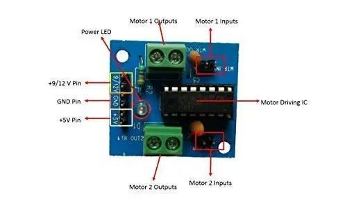 L293D circuit diagram