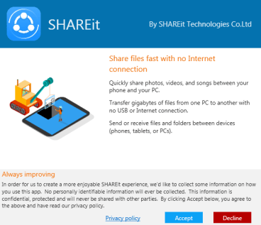 open shareit in pc