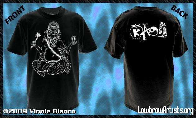 Ganesh in a gas mask t-shirt