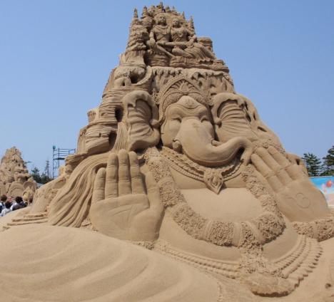 ganesh sand sculpture