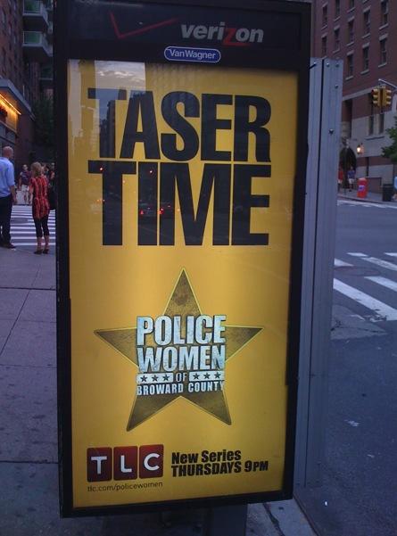 tlc police women taser time ad