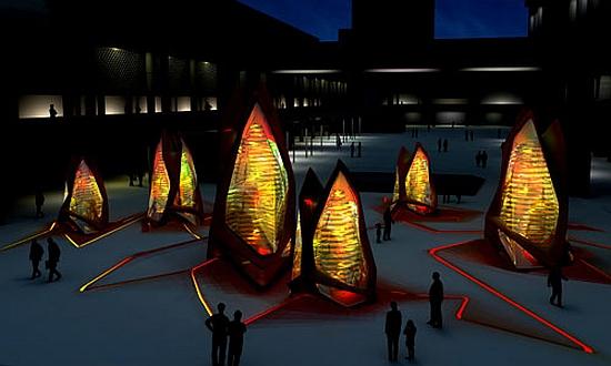 algae bioreactors as public art