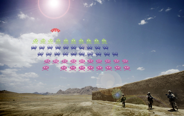 space invaders in afghanistan