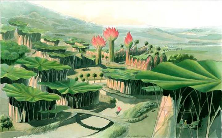 Luc Schuiten's Vegetal City