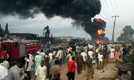 Burning pipeline Lagos