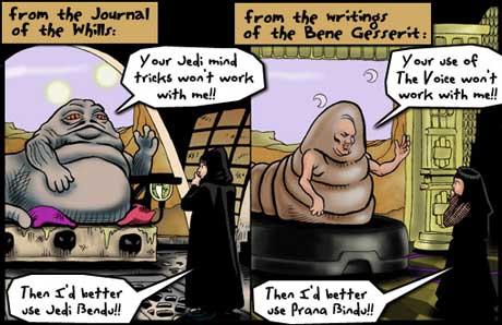 Justine Shaw, Star Wars and Dune comparison