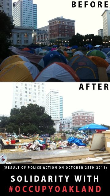 Occupy Oakland, before and after